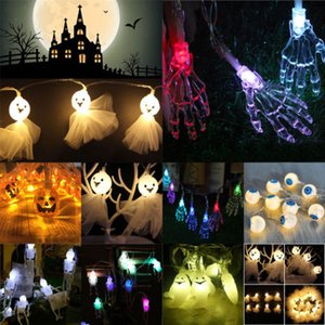 LED 2D / 3D-KÜRBIS-Schnur-Licht-Halloween-Xmas Party Home Office-Dekor-Lampe