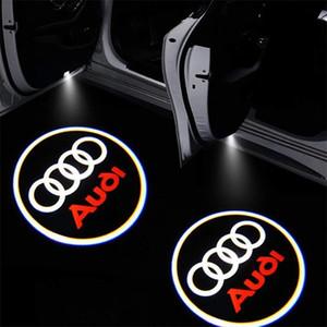 2 adet Araç kapılı Audi A3 A4 Q5 Q7 TT A5, A8 A1 A8L A6L Q3 R8 için logo projektör karşılama led lamba hayalet gölge farları