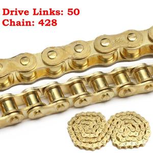 Золото 50 Link 428 Приводная цепь для 50cc 110cc 125cc 140cc PIT Dirt Bike PITBIKE
