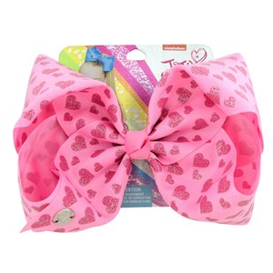 . Rib Belt impression Dot Big Bow Amour Hairclip décoration cheveux