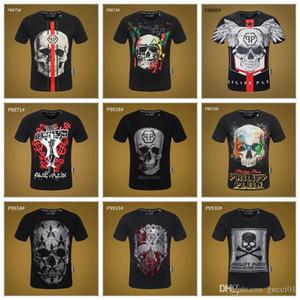 En gros Nouveau Style Designer t-shirts Crâne Rvet Impression T-shirt Hommes Simple Tendance De La Mode À Manches Courtes Casual Coton De luxe chemise 3A53 15