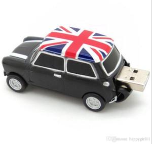 ثلاثة ألوان كول انجلترا بي ام دبليو ميني كوبر شكل سيارة USB 2.0 ذاكرة فلاش حملة عصا بندريف 16GB 100 ٪ ريال كامل