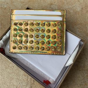 Dans Nouveau support ultra-mince en cuir véritable carte pick-up pour les hommes et les femmes ensemble compact porte-carte jeu de carte bancaire