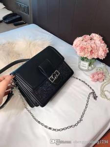 여성 가방 2020 새로운 패션 작은 빵 간단한 순수한 컬러 문자 하나 어깨 경사 크로스 다이아몬드 패키지 정품 가죽 핸드백