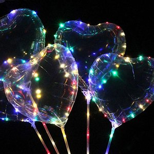 Led-Partei-Blitz Helle Luftballons Hand -Held Wellen-Kugel Ins Ballon-Lichter Night Market Led Festliche Party Supplies