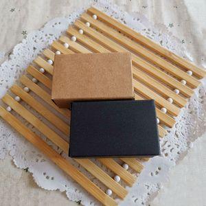 كثير من الاحجام الصغيرة السوداء الصابون المصنوعة يدويا من الورق المقوى ورقة مربع، صغير كرافت ورقة مربع، حلوى زفاف هدية التعبئة والتغليف صناديق 8PCS / الكثير