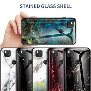 Mármol ultra liso delgado del caso del vidrio templado para el Google Pixel 4A 4 3A 3A XL 3XL 3 2 2 XL Pixel XL