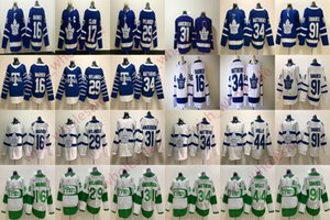 2019 Adamın St. Pats Toronto Maple Leafs Formalar Wendel Clark Auston Matthews Morgan Rielly John Tavares Doug Gilmour Youth Hokey Jersey