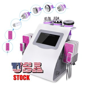 6 1 0 T Fettabsaugung mit Ultraschall Cavitation 8 Pads Laser Vacuum RF Hautpflege Fettverbrennung Weight Loss-Maschine Photon Beauty Spa