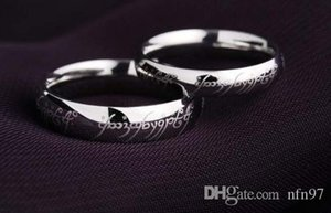 Nfn97 Retro The Lord of The Rings Soild 925 Sterling Magical Love Magical Warding Ring Gift