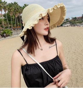 Sun hat female wave Korean version of the summer cover face UV protection big edge fisherman hat foldable empty top sun hat