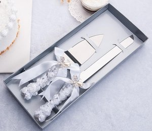 Edelstahl Hochzeitstorte Messer Spatel Set Jubiläum Parteien Geschirr Kuchenmesser Kuchen Spatel Küchenzubehör