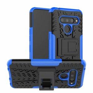 Per la copertura di LG V50 G7 G8 THINQ 5G K40 V40 V35 V30 Hard Case ibrido al silicio rivestimento in gomma morbida della pelle del gel del telefono