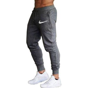 2020 Male Cotton Rugers Black Men's Pants Fitness Up Spring Mens Summer Streetwear Clothes black gray M-2XL