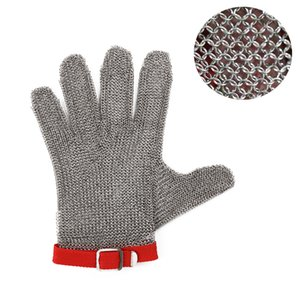 IYouNice Hig quality Safety Cut Meat Proof Protect Glove 100% Stainless Steel 304 Metal Mesh Butcher Gloves