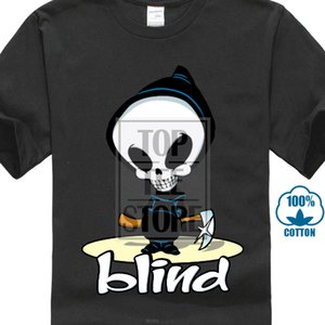 New Popular Blind Skateboard Extreme Sportive Men's Black T Shirt S To 4xl