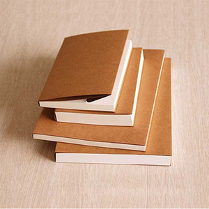 Wholesale 260 pages Backless retro kraft paper blank sketchbook child painting graffiti this sketch Lock binding notebook 130x190 190x265mm