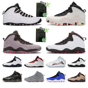 엠버 글로우 최고 품질 10 초 망 농구 신발은 웨스트 브룩의 철강 회색 흰색 검은 색 남성 트레이너 운동화를 10 개 스포츠 신발 시멘트