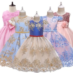 Lace Princess Girl Dress For Teenager Girl Christmas Birthday Party Clothing Kid Wedding Tutu Flower Dresses Prom Design Costume CX200603