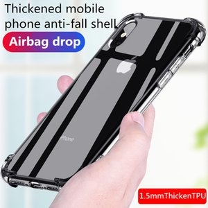 Iphone 8 transparent soft shell silicone 7P   8Plus xs and other apple series thickened airbag case applicable