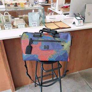 2020 Двусторонний Цвет Холст сумки у вас мужчины и женщины Lovers Одно плечо сумка вещевой Ручная кладь Путешествие Сумки люкс Сумочка
