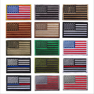 ABD Bayrağı Taktik Askeri Yamalar Altın Sınır Amerikan Bayrağı Demir on Yamalar Aplike Kot Kumaş Etiket Yamalar Şapka Çanta Rozetleri Için B5297