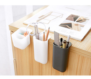 Support créatif Pasteable stylo de bureau Boîtes de rangement bureau Pen Crayon Organisateur Bureau Sundries Porte-école papeterie de stockage