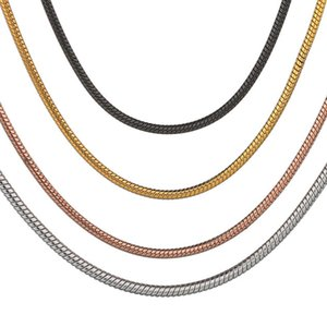 Top Quality 316 Stainless Steel 1.2mm Snake Chains Necklace NCVM Plating 20-30 Micron