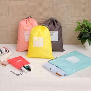 4 قطع / مجموعة ماء سفر الرباط حقيبة التخزين الحذاء الغسيل الملابس الداخلية ماكياج الحقيبة مستحضرات التجميل أدوات الزينة داخلية منظم VT1598