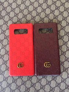 Pour Samsung Galaxy S7 S8 S9 bord plus S10E 5G lettre S20 Ultra G gaufrée cas de téléphone Samsung Note 8 9 10 Plus couvercle arrière dur