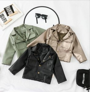 2020 best seller: boy baby color Lapel motorcycle leather coat children's spring and autumn new fashionable and handsome jacket 80-120cm