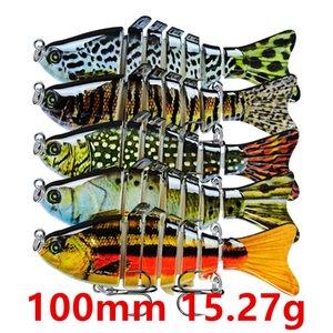 1pcs 10 Farbe 100mm 15.27g Mehrteilige Angelhaken 6 # Haken Angelköder harten Köder-Köder Pesca Angelgerät Zubehör KU_32