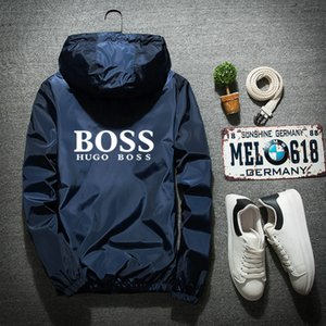 Großhandel Bosse-Jacken-Mantel Herbst hugo Männer Frauen Designer-Jacken Sport Hoodie mit Langarm Reißverschluss Windjacke Herrenmode Hoodies