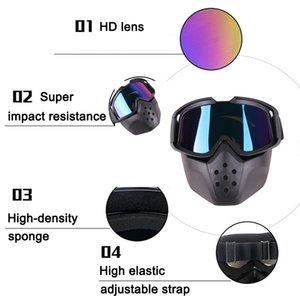 Высокое качество 1 шт. мотоцикл шлем крышка ветрозащитный старинные очки защищают глаза для наружного NCM99
