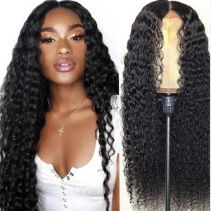 10A 360 Pre-Pucked Human Hair Laintel Front Wave Brazilian Hair Deep Wave 13 * 4 lace frontal wiggs Medium Size Full Lais Human Hair Wiggs