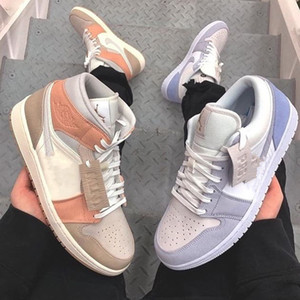 2020 Snakeskin Nike air Jordan Retro 1 Milan Mid Basketball Shoes Designer 1s Paris Low Mens Trainers Women airjordan Sports Sneakers Size 36 44