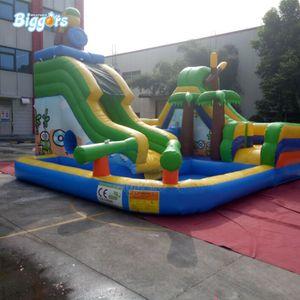 JARDIM Preço de Atacado Comercial Full PVC Material Bouncer Inflável Com Parque Aquático Piscina Slide Para Venda