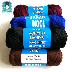 Для плетения 70 г за пакет бразильский шерстяной волосы огнезащитный синтетический волокна для коробки косички сенегальские крутовые косы