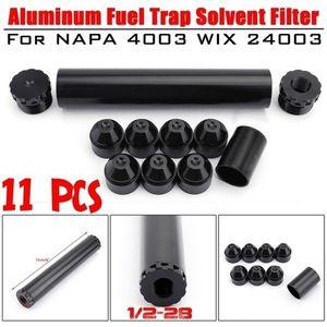 1 / 2-28 5/8 -24 Trampa de combustible Filtro Solvente Para Napa 4003 WIX 2400 6061-T6 de la pieza de automóvil