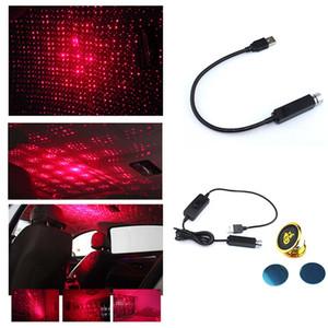 Universal Car Roof Estrelas Night Lights Projector Luz Interior Ambient Atmosfera Lamp Decoração pequeno LED USB