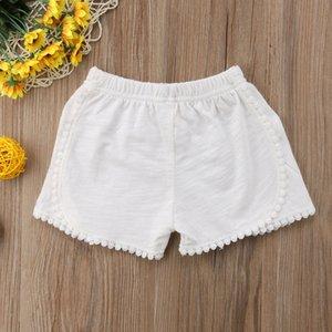 2018 Nova marca da criança infantil Crianças Baby Girl Cotton Pants Sólidos Casual Bloomers Calcinhas Lacework Shorts 3M-4T Atacado