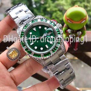 Relojes para hombre rojo y azul cristal anillo de 40mm brazalete de acero inoxidable reloj automático luminoso estupendo reloj orologio di Lusso