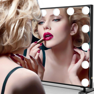 Hot Seller Hollywood style standing led vanity makeup mirror with light blubs dimming