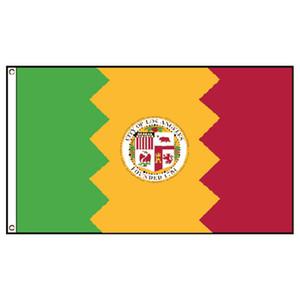Ville de Los Angeles Drapeau 150x90cm bannière 3x5 FT 100D canons isolants en laiton polyester flag imprimé sur commande, Livraison gratuite