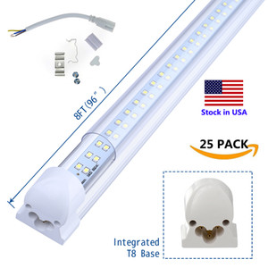 8' T8 FA8 LED Tubes V Forma 8 pés Integrado LED 8 pés Trabalho Light 45W 72W 96 '' Double Row fluorescente luminárias