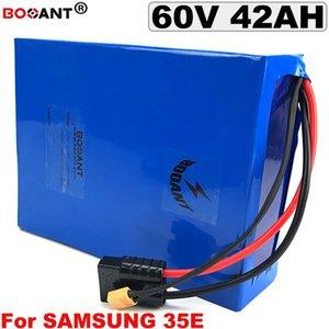Melhor 60 v 40AH E moto-moto De Lítio bicicleta eletrica da bateria 60 v Para Original Samsung 35E 18650 bateria pacote pour 1500 w 3000