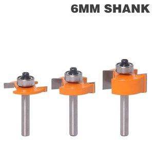 """1 개 6mm 생크 높은 품질 """"T""""형 비스킷 공동 슬롯 커터 융 / 슬로 팅 라우터 비트 3mm, 4mmHeight 커터 나무 작업"""