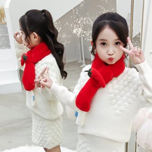 Male and female baby cartoon Warm scarf imitation Rex rabbit hair warm thickened children's scarf cute fruits and vegetables