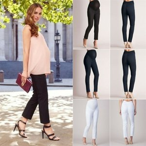 Womens Maternity Pregnancy Stretch Trousers Pregnant Long Casual Pants Soft Maternity Clothings