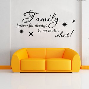 Family Forever Quote Wall Stickers Art Mural 9311 Diy Bedroom Removable Home Decorations Quote Vinyl Decals